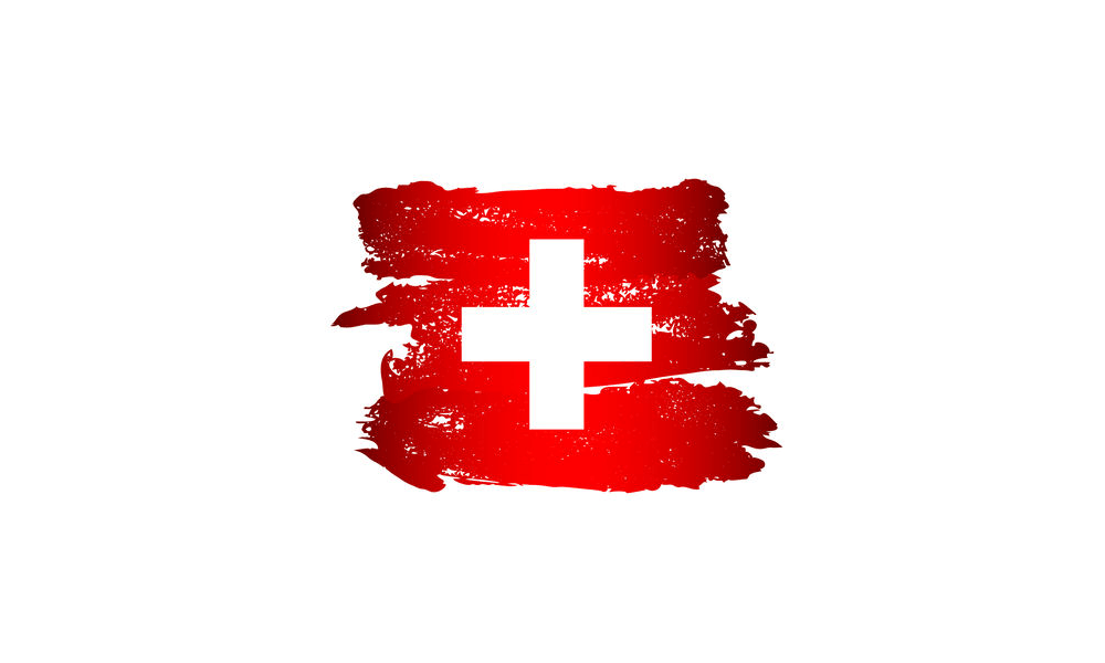 Graphical Swiss flag