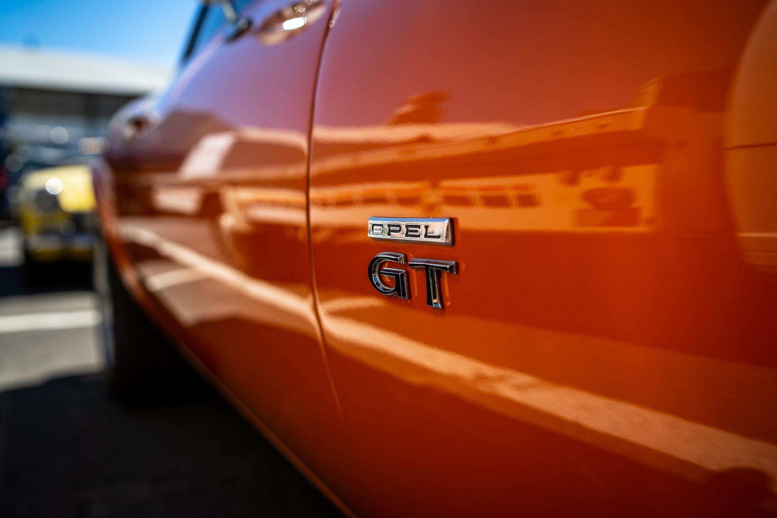 Red Opel GT Car