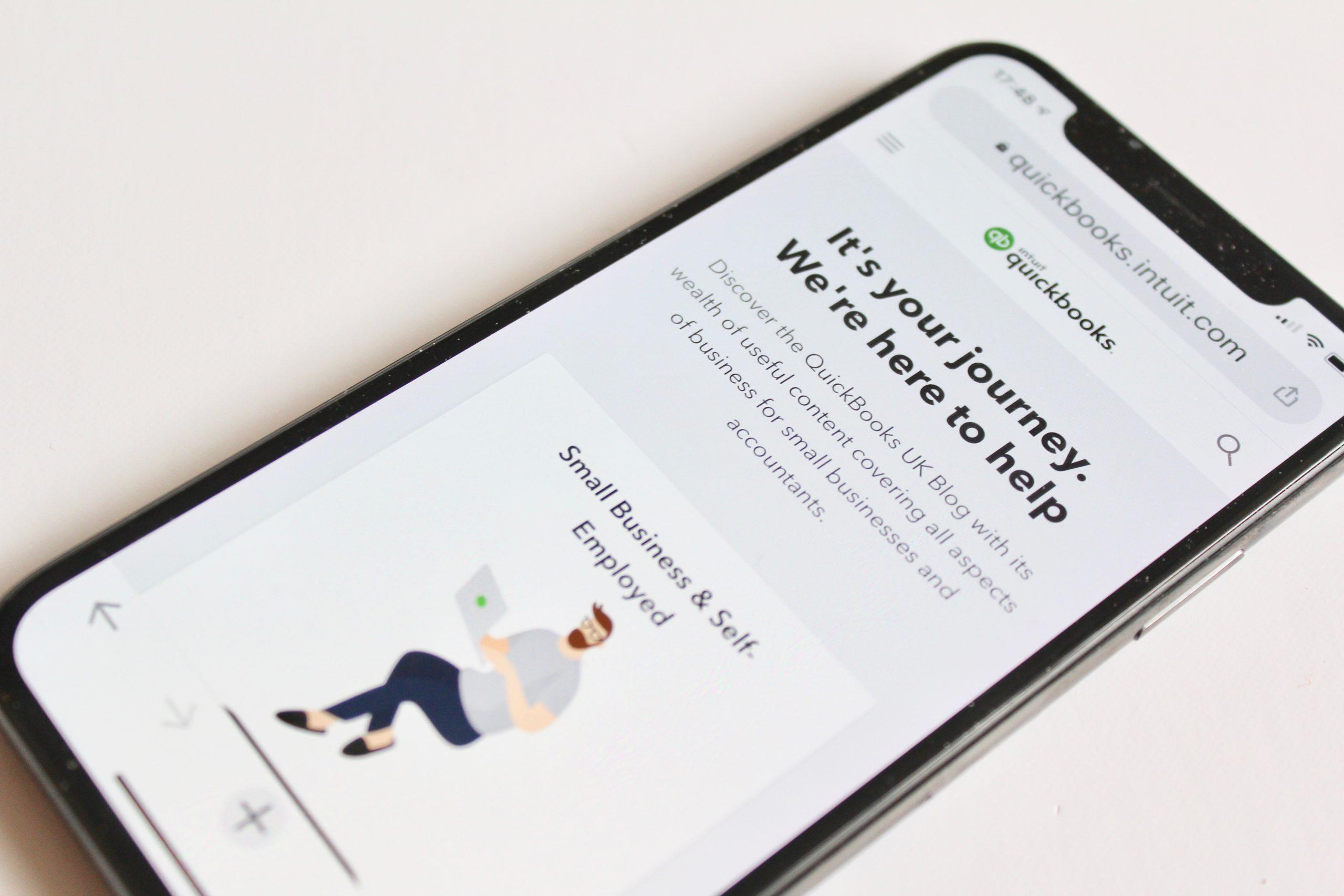 QuickBook blog on iPhone
