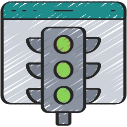 Stop light graphic
