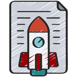 Rocket ship graphic