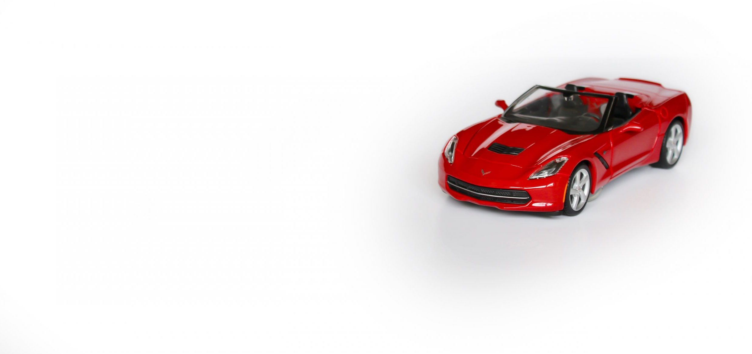 Red Chevrolet Corvette model